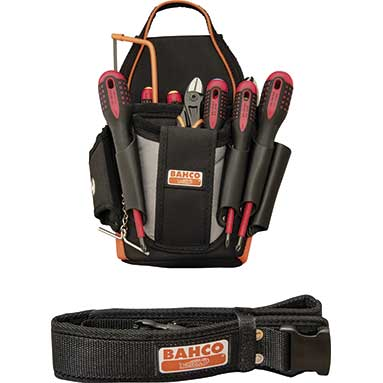 Bahco Electricians Tool Pouch Kit 7 Vde Screwdrivers