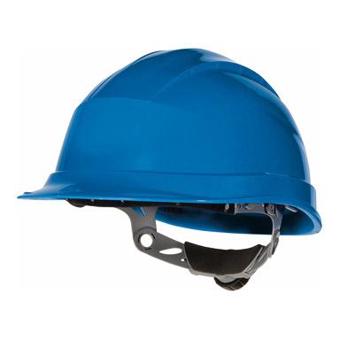 Blue Ratchet Hard Hat Quartz Iii Delta Plus Ebay