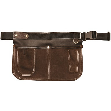 gardening tool belt personalised brown suede leather