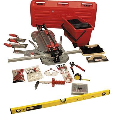 Gold Tiling Tools Kit Inc Rubi Tools