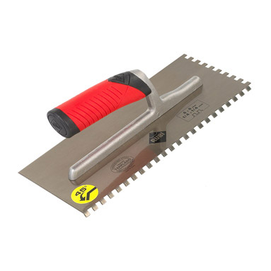 Rubi 10mm notched trowel 45 angle hardened steel new for 10mm floor tile spacers